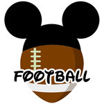 Scrapbook Customs - Cardstock Stickers - Football - Magic Ears - Boy