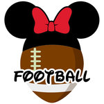 Scrapbook Customs - Cardstock Stickers - Football - Magic Ears - Girl