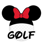 Scrapbook Customs - Cardstock Stickers - Golf - Magic Ears - Girl