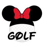 Scrapbook Customs - Cardstock Stickers - Golf - Magic Ears - Girl