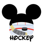 Scrapbook Customs - Cardstock Stickers - Hockey - Magic Ears - Boy