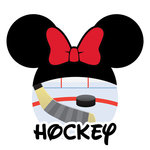 Scrapbook Customs - Cardstock Stickers - Hockey - Magic Ears - Girl