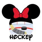 Scrapbook Customs - Cardstock Stickers - Hockey - Magic Ears - Girl