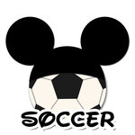 Scrapbook Customs - Cardstock Stickers - Soccer - Magic Ears - Boy