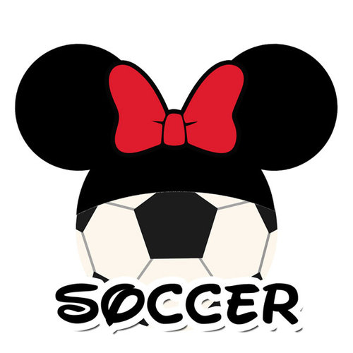 Scrapbook Customs - Cardstock Stickers - Soccer - Magic Ears - Girl