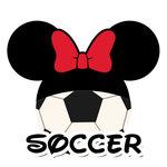 Scrapbook Customs - Cardstock Stickers - Soccer - Magic Ears - Girl