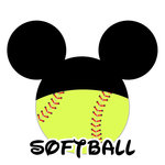 Scrapbook Customs - Cardstock Stickers - Softball - Magic Ears - Boy