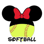 Scrapbook Customs - Cardstock Stickers - Softball - Magic Ears - Girl