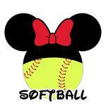 Scrapbook Customs - Cardstock Stickers - Softball - Magic Ears - Girl