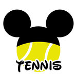 Scrapbook Customs - Cardstock Stickers - Tennis - Magic Ears - Boy