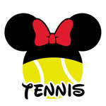 Scrapbook Customs - Cardstock Stickers - Tennis - Magic Ears - Girl