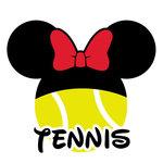 Scrapbook Customs - Cardstock Stickers - Tennis - Magic Ears - Girl