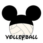 Scrapbook Customs - Cardstock Stickers - Volleyball - Magic Ears - Boy