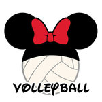 Scrapbook Customs - Cardstock Stickers - Volleyball - Magic Ears - Girl