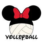 Scrapbook Customs - Cardstock Stickers - Volleyball - Magic Ears - Girl