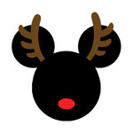 Scrapbook Customs - Cardstock Stickers - Christmas Rudolph - Magic Ears