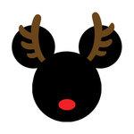 Scrapbook Customs - Cardstock Stickers - Christmas Rudolph - Magic Ears