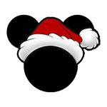 Scrapbook Customs - Cardstock Stickers - Christmas Santa - Magic Ears