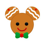 Scrapbook Customs - Cardstock Stickers - Christmas Gingerbread - Magic Ears