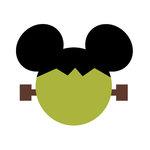 Scrapbook Customs - Cardstock Stickers - Halloween Frankenstein - Magic Ears