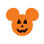 Scrapbook Customs - Cardstock Stickers - Halloween Pumpkin - Magic Ears
