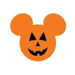 Scrapbook Customs - Cardstock Stickers - Halloween Pumpkin - Magic Ears