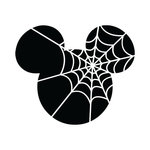 Scrapbook Customs - Cardstock Stickers - Halloween Spider Web - Magic Ears