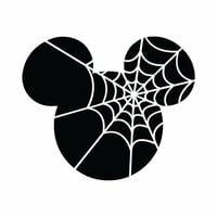 Scrapbook Customs - Cardstock Stickers - Halloween Spider Web - Magic Ears