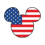 Scrapbook Customs - Cardstock Stickers - Patriotic - Magic Ears - Boy