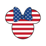Scrapbook Customs - Cardstock Stickers - Patriotic - Magic Ears - Girl