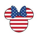 Scrapbook Customs - Cardstock Stickers - Patriotic - Magic Ears - Girl