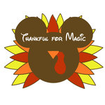 Scrapbook Customs - Cardstock Stickers - Thanksgiving Turkey Magic Ears