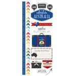 Scrapbook Customs - Adventure Collection - Cardstock Stickers - Australia