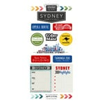Scrapbook Customs - Adventure Collection - Cardstock Stickers - Sydney City