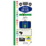 Scrapbook Customs - Adventure Collection - Cardstock Stickers - Brazil