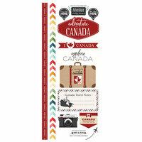 Scrapbook Customs - Adventure Collection - Cardstock Stickers - Canada
