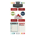 Scrapbook Customs - Adventure Collection - Cardstock Stickers - Toronto City