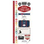 Scrapbook Customs - Adventure Collection - Cardstock Stickers - England