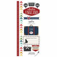 Scrapbook Customs - Adventure Collection - Cardstock Stickers - England