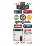 Scrapbook Customs - Adventure Collection - Cardstock Stickers - London City