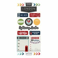 Scrapbook Customs - Adventure Collection - Cardstock Stickers - London City