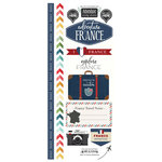 Scrapbook Customs - Adventure Collection - Cardstock Stickers - France