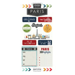 Scrapbook Customs - Adventure Collection - Cardstock Stickers - Paris City
