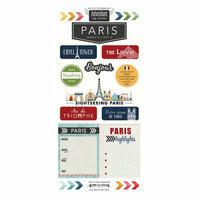 Scrapbook Customs - Adventure Collection - Cardstock Stickers - Paris City