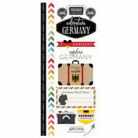Scrapbook Customs - Adventure Collection - Cardstock Stickers - Germany
