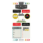 Scrapbook Customs - Adventure Collection - Cardstock Stickers - Berlin City