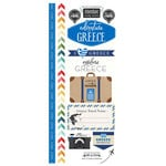 Scrapbook Customs - Adventure Collection - Cardstock Stickers - Greece