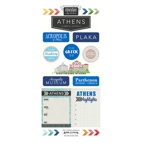 Scrapbook Customs - Adventure Collection - Cardstock Stickers - Athens City