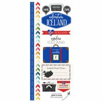 Scrapbook Customs - Adventure Collection - Cardstock Stickers - Iceland