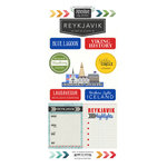 Scrapbook Customs - Adventure Collection - Cardstock Stickers - Reykjavik City - Iceland
